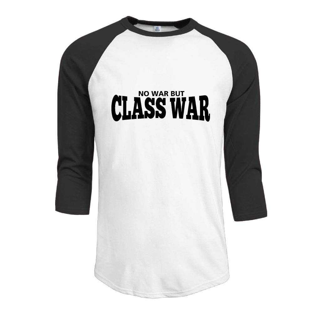 JRMM Lettering No War But Class War Adult Mens Long Sleeve Tshirt