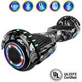 """NHT 6.5"""" Hoverboard Electric Self Balancing Scooter Sidelights - UL2272 Certified Black, Blue, Pink, Red, White (Wheel)"""
