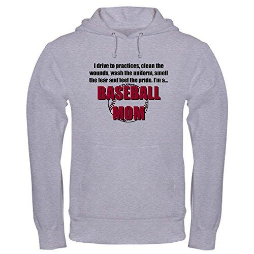 CafePress Baseball Mom Hooded Sweatshirt Pullover Hoodie, Classic & Comfortable Hooded Sweatshirt Heather Grey ()