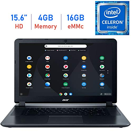 (Acer Premium 15.6'' Chromebook HD ComfyView Display Laptop (Intel Dual-Core Celeron 1.6GHz, 4GB Memory, 16GB eMMC Storage, WiFi, Bluetooth, Webcam, HDMI, Up to 12 hrs Battery, USB 3.0, Chrome OS) )