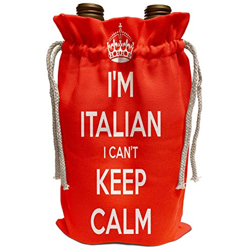 3dRose EvaDane - Quotes - I Cant Keep Calm Im Italian Red - Wine Bag (wbg_222840_1)