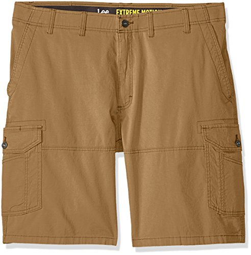 LEE Men's Big-Tall Extreme Motion Swope Cargo Short, Acorn, 52