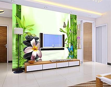 Camere Da Letto Verde Tiffany : Malilove custom 3d murales acqua ripple e verde bambù fresco