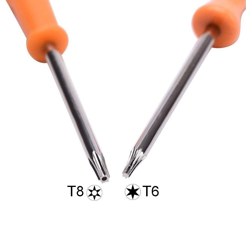 T10 Juego de herramientas de reparaci/ón de destornillador de seguridad Torx para Xbox One iMinker T6 T8 Xbox 360 y PS3 PS4 1 completo juego