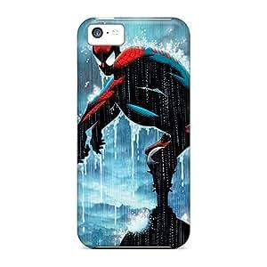 Unique Design Iphone 5c Durable Tpu Case Cover Spiderman In The Rain In Color