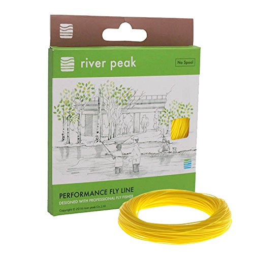 river peak FLY LINE DT 7 F #7 Double Taper Floating 100ft(30.5m) (LemonYellow)