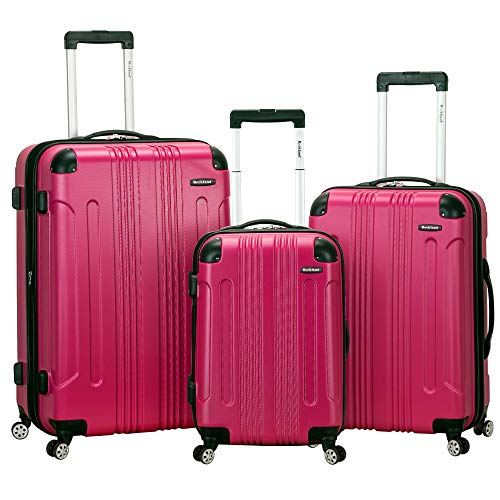 (Rockland Luggage 3 Piece Sonic Upright Set, Magenta, One Size)