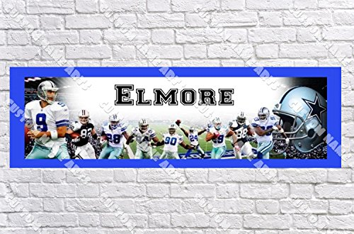 Personalized Dallas Cowboys Banner - Includes Color Border Mat, With Your Name On It, Party Door Poster, Room Art Decoration - Customize (Dallas Cowboy Door)