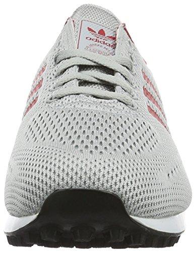 adidas Men's La Em Trainers Grey (Clear Onix/Power Red/Ftwr White) lR8qXug2