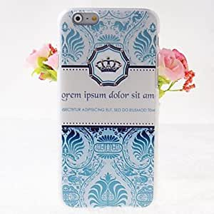 JAJAY Zircon Crown Pattern Embossment Back Case for iPhone 6