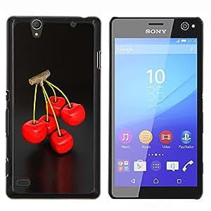 """Be-Star Único Patrón Plástico Duro Fundas Cover Cubre Hard Case Cover Para Sony Xperia C4 E5303 E5306 E5353 ( Enfriar Cherry Berry Ramita Red Delicious Naturaleza"""" )"""