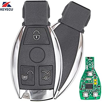Keyecu Replacement Remote Car Key Fob 3 Button 315MHz NEC Chip for Mercedes-Benz 2000-2014 Support NEC /& BGA