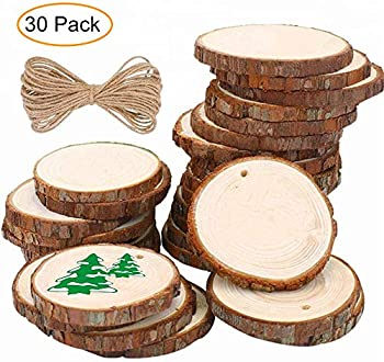O-ONE Small Natural Wood Slices Predrilled with Holes
