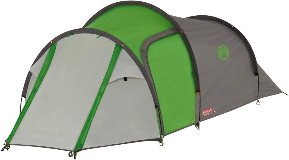 Coleman Cortes 2 Tent 2 Man Absolutely Waterproof Lightweight Camping Tent with Sewn-in Groundsheet 1 Bedroom Hiking