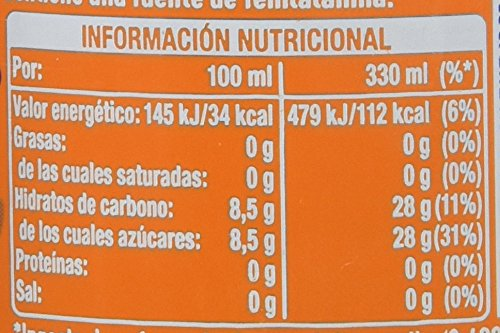 fanta naranja valor nutricional