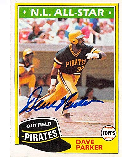 Dave Parker autographed baseball card (Pittsburgh Pirates) 1981 Topps #640 All Star - Baseball Slabbed Autographed Cards ()