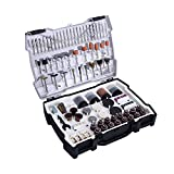 Tacklife ARTO2C 282-Piece Rotary Tool Accessories Kit 1/8-inch Diameter Shanks Universal Fitment for Easy Cutting, Grinding, Sanding, Sharpening, Carving and Polishing