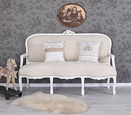 Sitzgruppe Rokoko Sofa 2 Sessel Marmor Tisch Shabby Chic ...