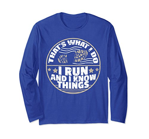 Training Marathon Runner (Unisex Long Sleeve Running Shirt Training & Marathon Runner Gift 2XL Royal Blue)