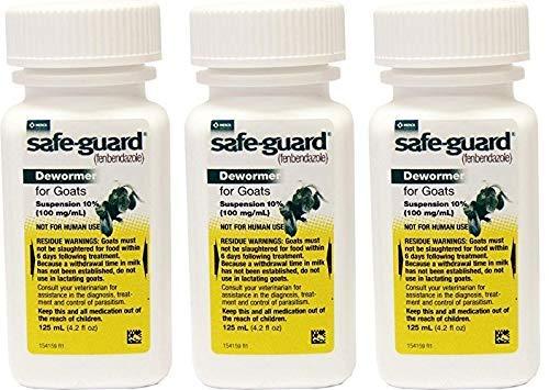 Merck Safeguard Goat Dewormer, 125ml (Pack of 3)