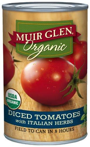 Muir Glen tomates en dés, aux fines herbes italiennes, Cans 14,5 onces (pack de 12)