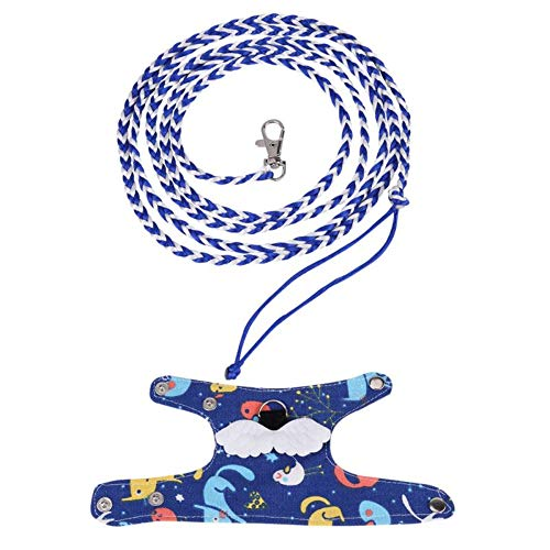 Be Good Small Animal Harness Vest with Leash Adjustable Neck and Chest Soft and Comfortable Small Pet Lead for Rat Mouse Squirrel Small Animal Dark Blue (Rat Vest)