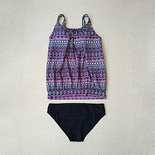 Costumi Donna Purple Coprispalle Taglie Spiaggia Costume Lmshm Da Belly Forti Maniche Bagno Intero Senza f56gxn