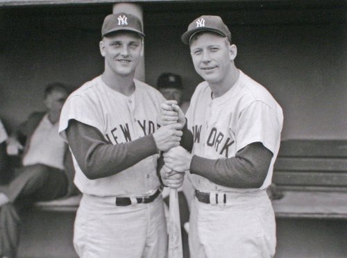 New York Yankees Mickey Mantle & Roger Maris in 1961 8x10 Photograph