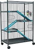 Zolux Cage pour Chinchilla/Furet Bleu 72 x 43 x 107 cm
