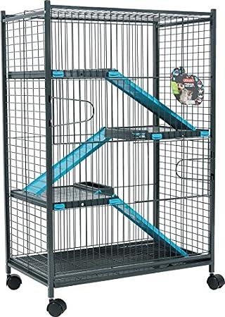 Zolux Cage pour Chinchilla/Furet Bleu 72 x 43 x 107 cm 205486B/G