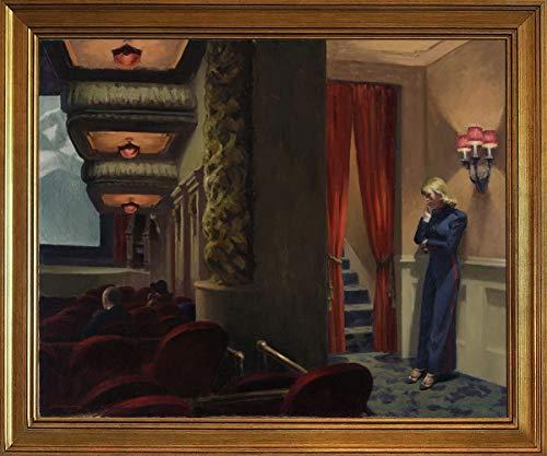 Berkin Arts Classic Framed Edward Hopper Giclee Canvas Print Paintings Poster Reproduction(New York Movie) #JK