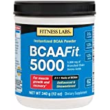 Fitness Labs BCAA Fit 5000, 2:1:1 Ratio, 340 Grams