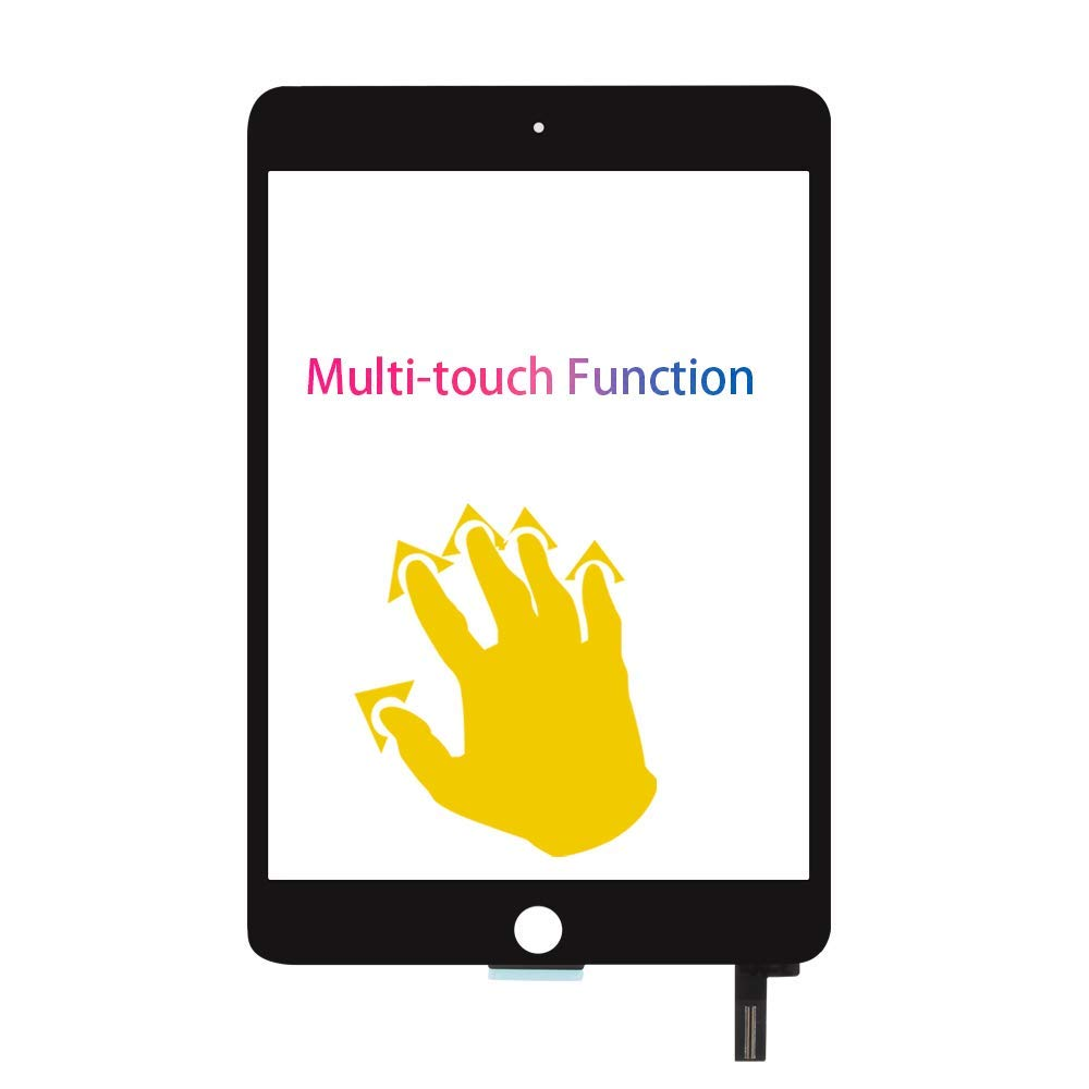 Touch Screen Replacement for iPad Mini 4 Digitizer Replacement for iPad Mini 4 A1538 A1550 Touch Screen Digitizer Sensor Touchscreen Glass Assembly Kit,Repair Parts,LCD Display Not Included,Black