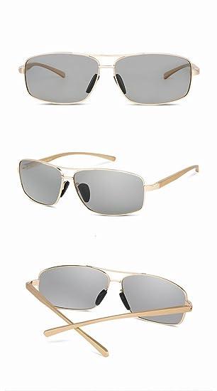 automatische Lichtempfindliche polarisierte sonnenbrille Männer klassischen angeln fahren sonnenbrillen goldrahmen z3ZPnu