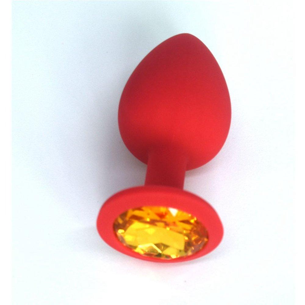 BTAI.T 4 Color 3 Size Annnnal Pllllug Silicone Buuuutt Adult Seeeeexx Toys for Men for Women(S.Orange) by BTAI.T (Image #1)