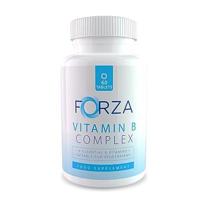 FORZA Vitamina B complejo – Ocho Vitaminas B en Cada Tableta Diaria - 60 Comprimidos/