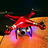 Digood RC Quadcopter 1080P Wide Angle Lens 270 Degree Rotating HD Camera Drone FPV (red)