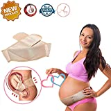 Maternity Support Belt for Pregnancy, Breathable Maternity Belly Band for Pregnant Women Alleviate Hips, Pelvis and Back Pain, Abdominal Binder can a Prenatal Cradle for Baby