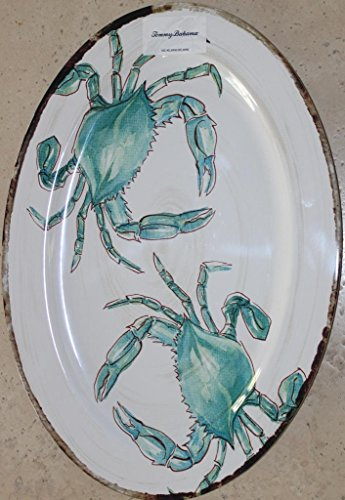 Tommy Bahama Crab 100% Melamine Large Serving Platter - 19-7/8
