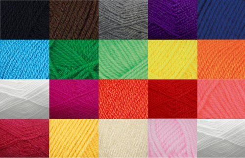 King Cole Dollymix DK Craft Toy Making Knitting Yarn 20 Colours x 25g Acrylic Wool Pack