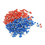 Aexit 14 AWG Cable Pre Insulate Ferrules Terminals E2508 Red Blue 380 Pcs