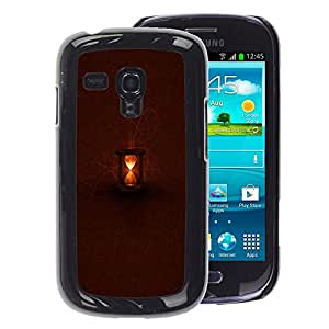 A-type Arte & diseño plástico duro Fundas Cover Cubre Hard Case Cover para Samsung Galaxy S3 MINI 8190 (NOT S3) (Brown Light Time Deep Waiting)