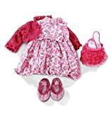Gotz Floral Dress with Cardigan, Shoes and Purse for 18''-19.5'' Standing Dolls