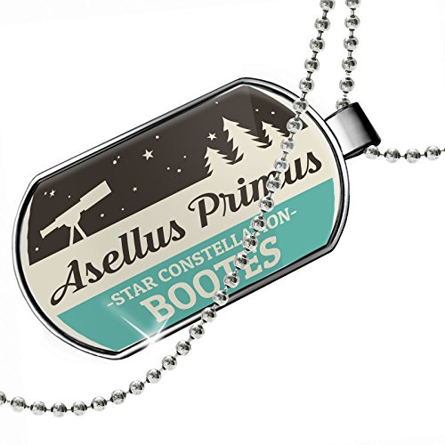 Dogtag Star Constellation Name Bootes - Asellus Primus Dog tags necklace - Neonblond by NEONBLOND