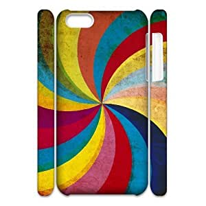 3D IPhone 5C Cases Colored Swirl, Abstract Color Cases Jumphigh, {White}