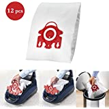 For Miele FJM Vacuum Bags 12PCS, I-clean Replacement AirClean 3D Efficiency Vacuum Cleaner Dust Bags With 2 Motor Protection Filters & AirClean Filter