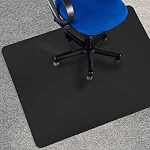 Office Marshal Black Polycarbonate Office Chair Mat 36