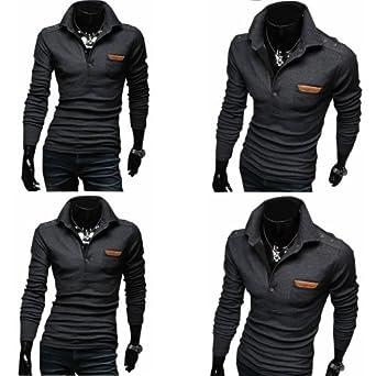 neues Design moderate Kosten suchen Premium** Luxus Herren Top Design long Sleeve Polo Shirt ...