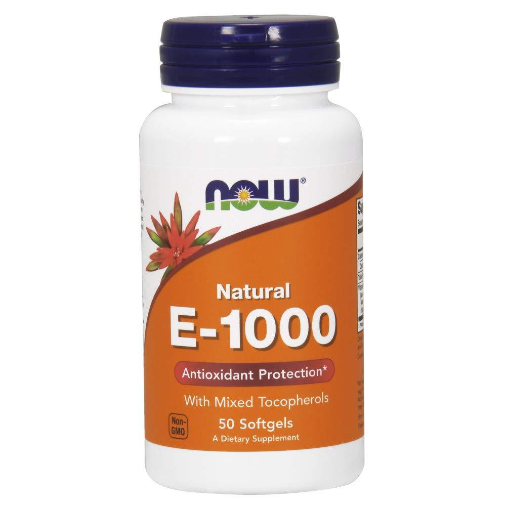 NOW Supplements, Vitamin E-1000 IU Mixed Tocopherols, 50 Softgels
