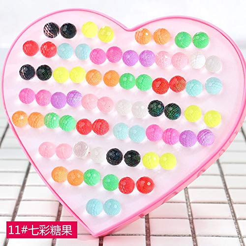 Party Gift Fashion Diamond Earrings Earring Ear Dangler Hypoallergenic Plastic Stick Acupuncture Plug Boutique Jewelry (Colorful Candy # 11
